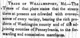 1848 - Trade at Williamsport