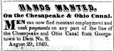 1849 - Hands wanted