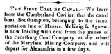 1850 - First coal by canal