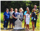 Family members of   crew visit monuments in Western Maryland, July 2014